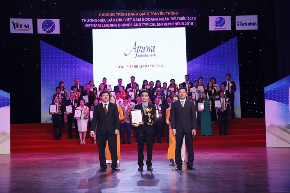 Apuwa đạt danh hiệu TOP 50 Thương hiệu dẫn đầu Việt Nam năm 2018