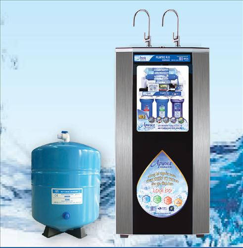 Máy lọc nước RO Apuwa 8 cấp nóng lạnh 2 vòi