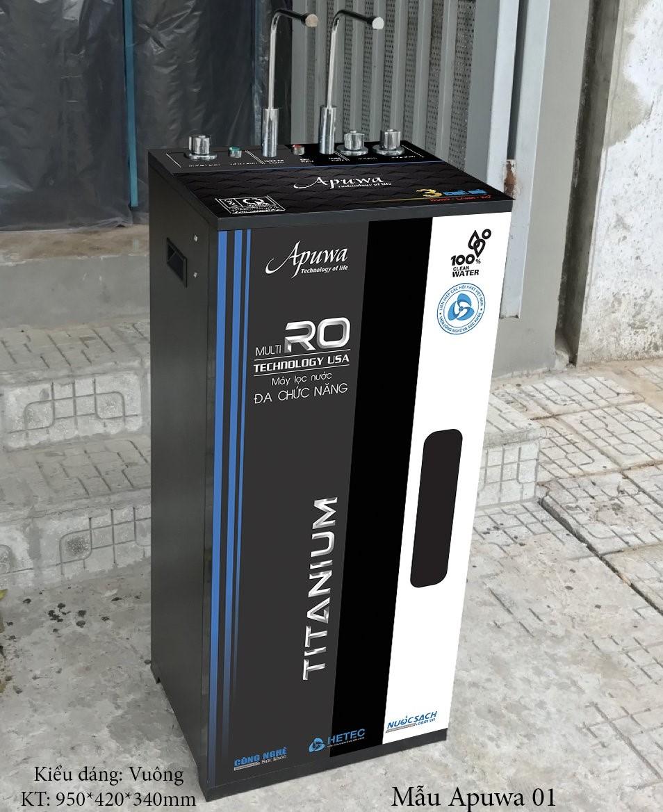 Máy lọc nước RO 8 cấp lọc Apuwa tích hợp 3 chức năng nóng - lạnh - nguội AP108-3CN