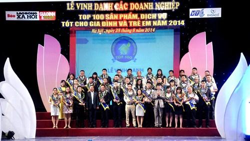 Apuwa Việt Nam đạt danh hiệu Top 100 Sản phẩm dịch vụ tốt dành cho gia đình và trẻ em