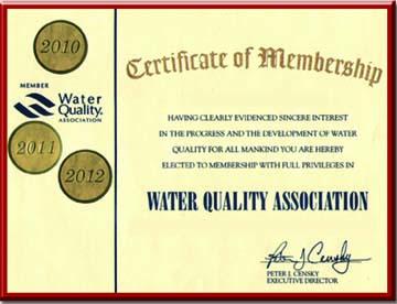 Tiêu chuẩn Member of WQA